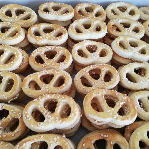 Sezamové maslové praclíky