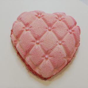 Ružové srdiečko –  vanilka s jahodami  pre dvoch