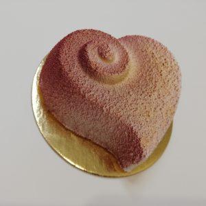 Malé ružové srdiečko –  vanilka s jahodami